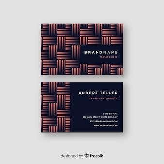 Шаблон геометрического абстрактного визитная карточка