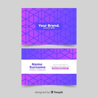 Template geometric abstract business card