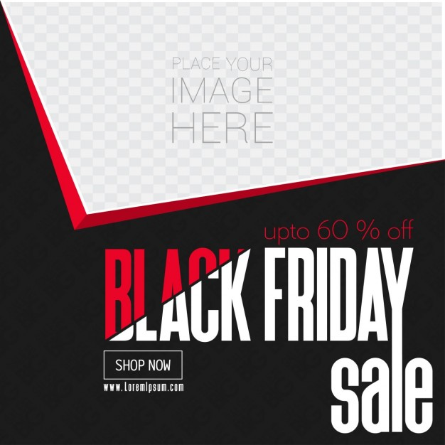 Template, geometric shapes, black friday