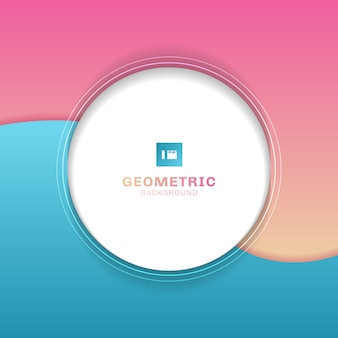 Template geometric white circle background.