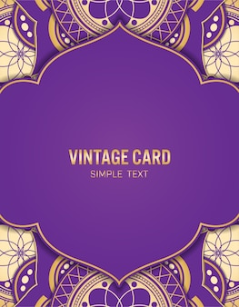 Template gold card with abstract background