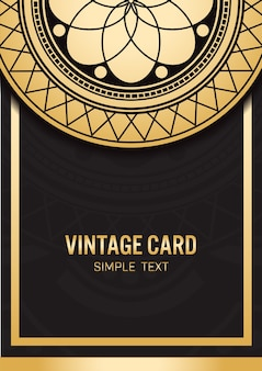 Template gold card