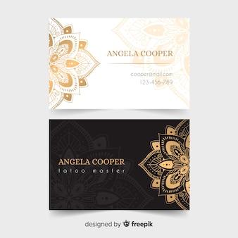 Template golden ornamental business card