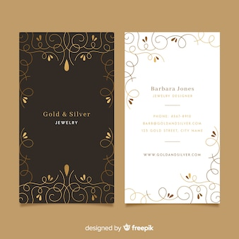 Template golden ornamental business card