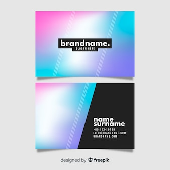 Template gradient business card