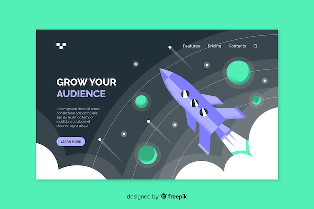 Template grow your audience landing page