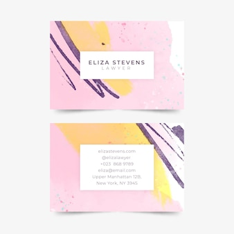 Template of hand painted business cards