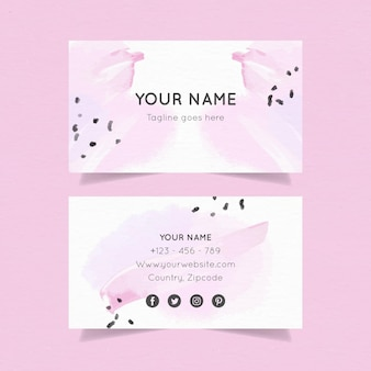 Template for hand painted business cards
