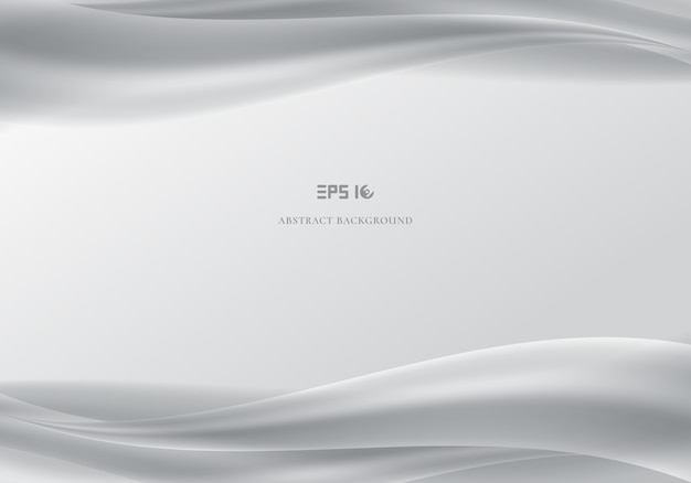 Template header and footers abstract white waves smooth