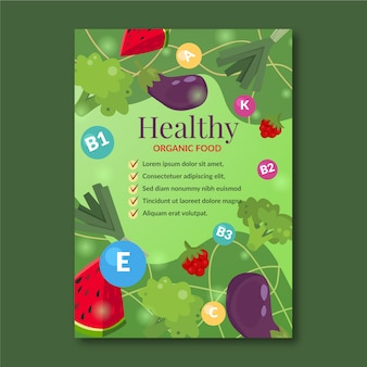 Template for healthy food promotion poster