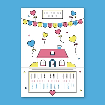 Template of housewarming party invitation concept
