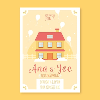Template of housewarming party invitation