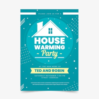 Template for housewarming party invitation