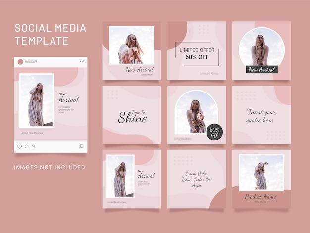 템플릿 instagram 포스트 패션 소셜 미디어 퍼즐