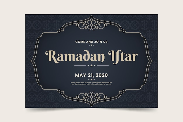 Template invitation for iftar event