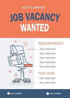 Template job vacant wanted chair line