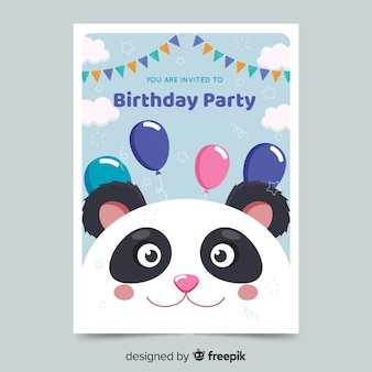 Template kids birthday invitation