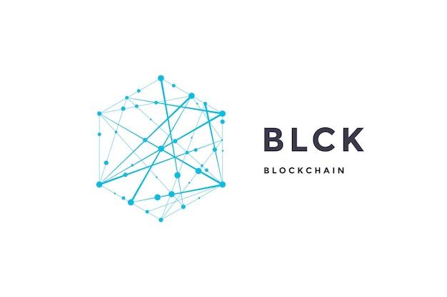 Шаблон этикетки для технологии блокчейн