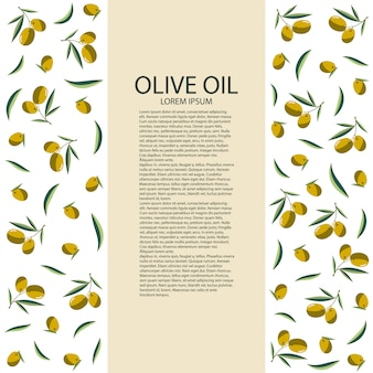 Template label with olives for your bottle of olive oil . vector illustration.
