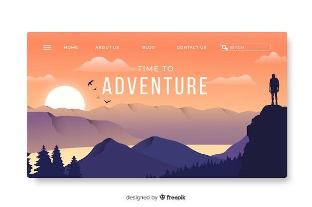 Template landing page adventure