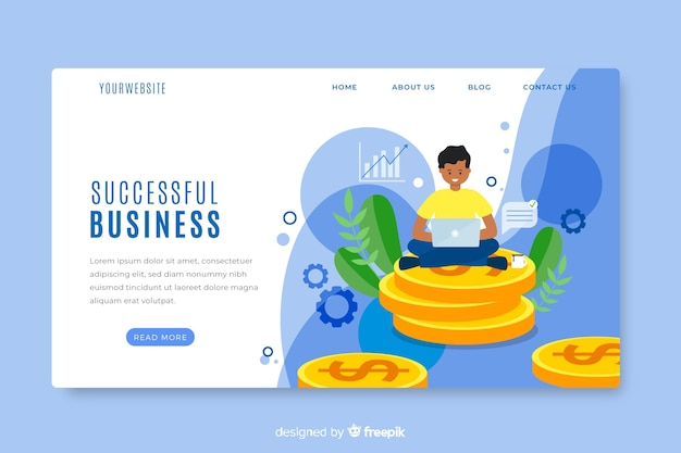 Template landing page business