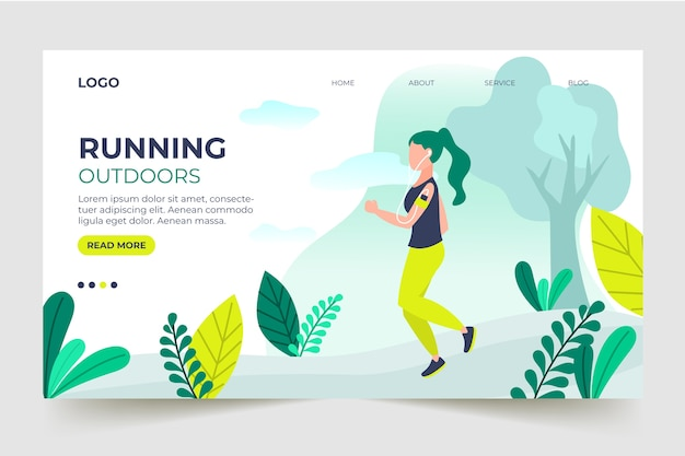 Template landing page outdoor sport