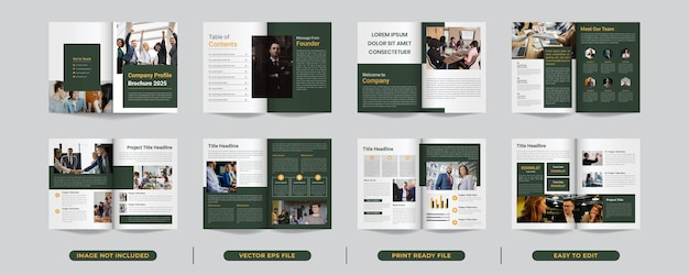 Template layout design with cover page for business brochure design or company profile