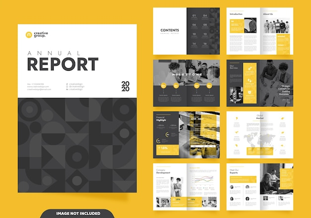Template layout design with cover page for company profile and brochures