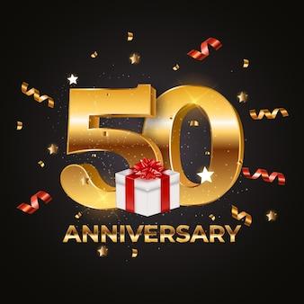 Шаблон логотипа 50 лет юбилей