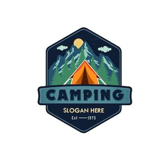 Template logo camping vector illustration