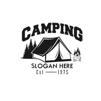 Template logo camping vector illustration