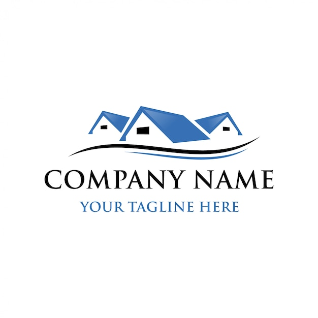 Template logo real estate