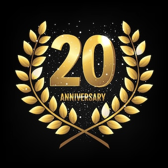 Template logo twenty years anniversary