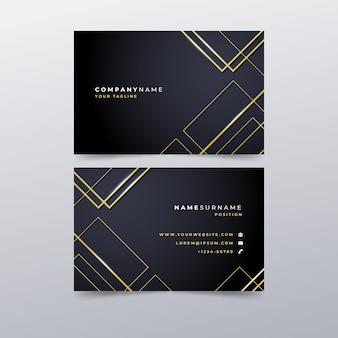 Шаблон роскошной визитки