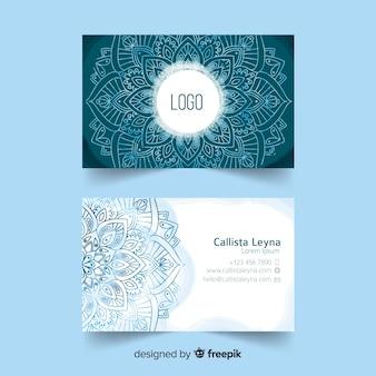 Template mandala watercolor business card