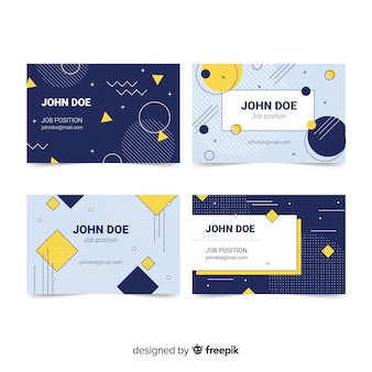 Template of memphis business card