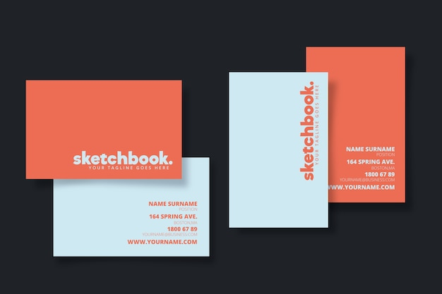 Template minimal colorful business card