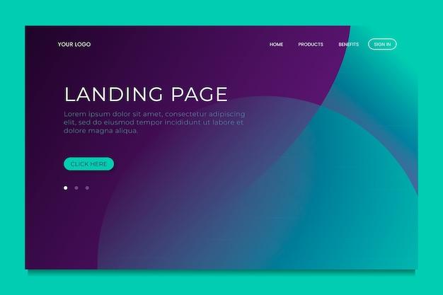 Template minimal geometric landing page