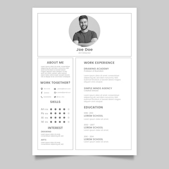 Template for minimalist cv
