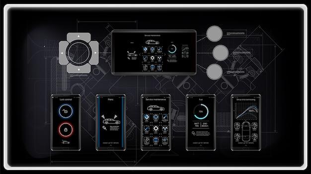 Шаблон мобильного приложения, для управления и диагностики автомобилей, сервиса