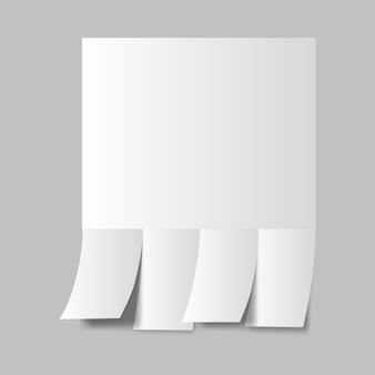Шаблон макета рекламы с вкладными листами для вашего дизайна