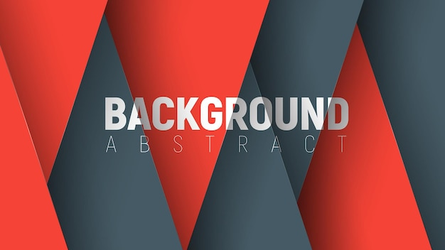 Template of a modern background with black and red elements intersecting in the form of triangles.