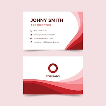 Template monochromatic abstract business card