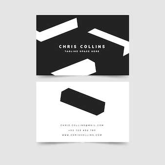 Template for monochrome business cards