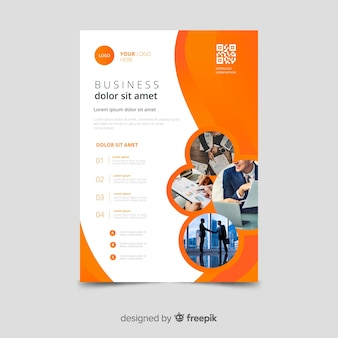Template mosaic business flyer