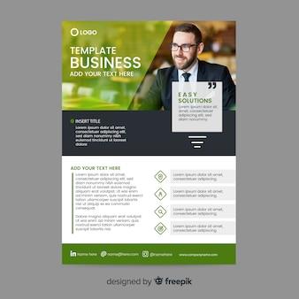 Template mosaic business flyer