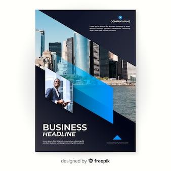 Шаблон мозаики бизнес флаер
