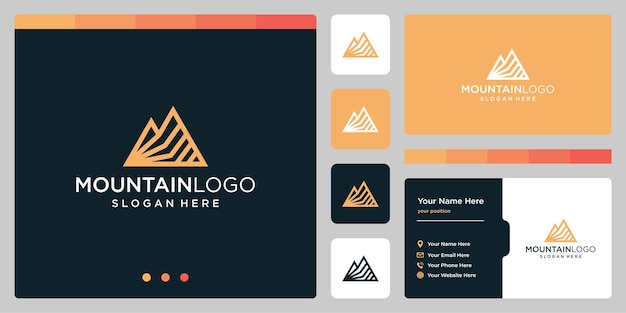 Template mountains vector logo. logotype for business and creative company.
