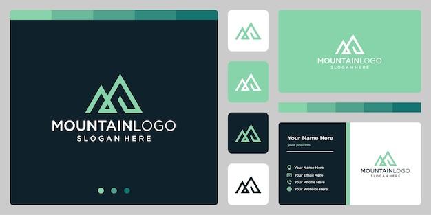 テンプレート山ベクトルロゴ。ビジネスおよびクリエイティブ企業のロゴタイプ。