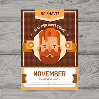 Template movember poster
